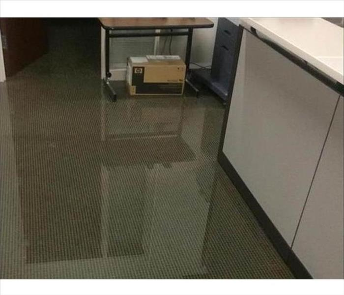 pooling water inside office